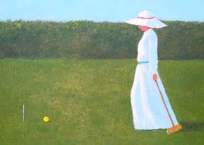 Lady with Mallet and Yellow Ball